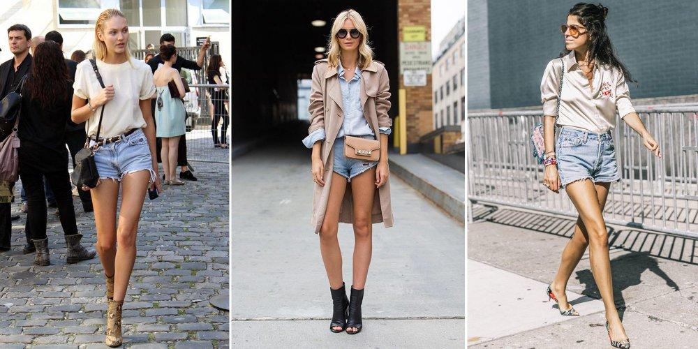 tendance short en jeans