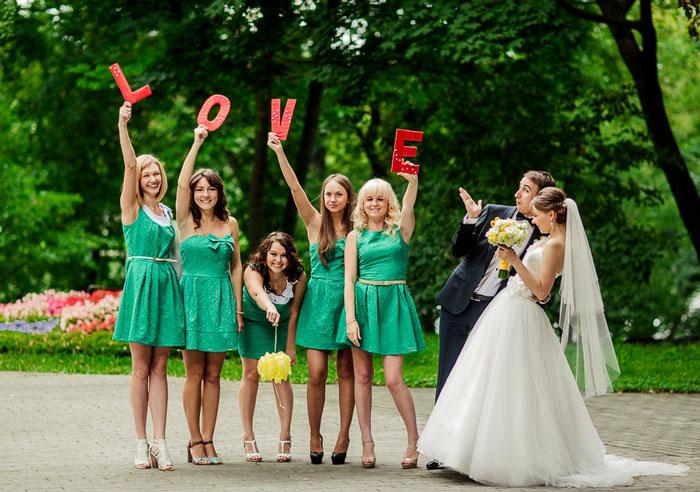 robes vertes courtes pour demoiselles d'honneur