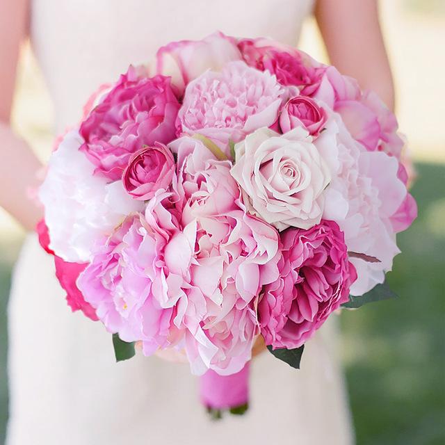 bouquet de mariée romantique rose
