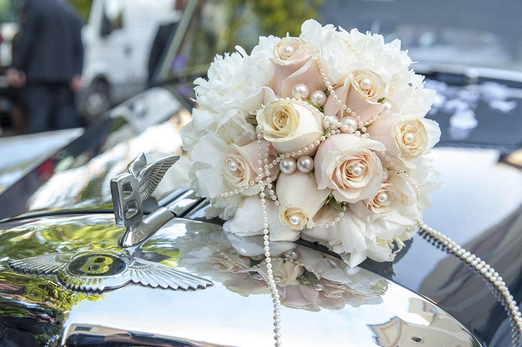 bouquet de mraige orné de perles
