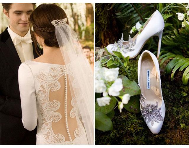 escarpins blanches de mariage le mariage de Bella Swan dans la saga Twilight
