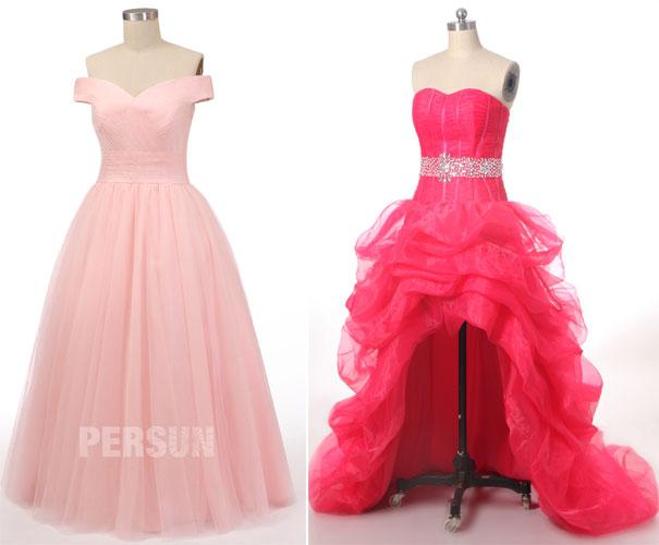 robes de soirée rose princesse