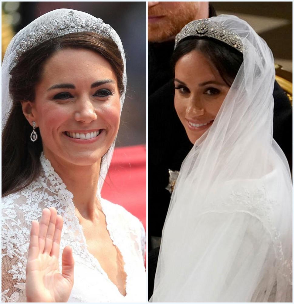 Couronnes mariage de Catherine Middleton et Meghan Markle