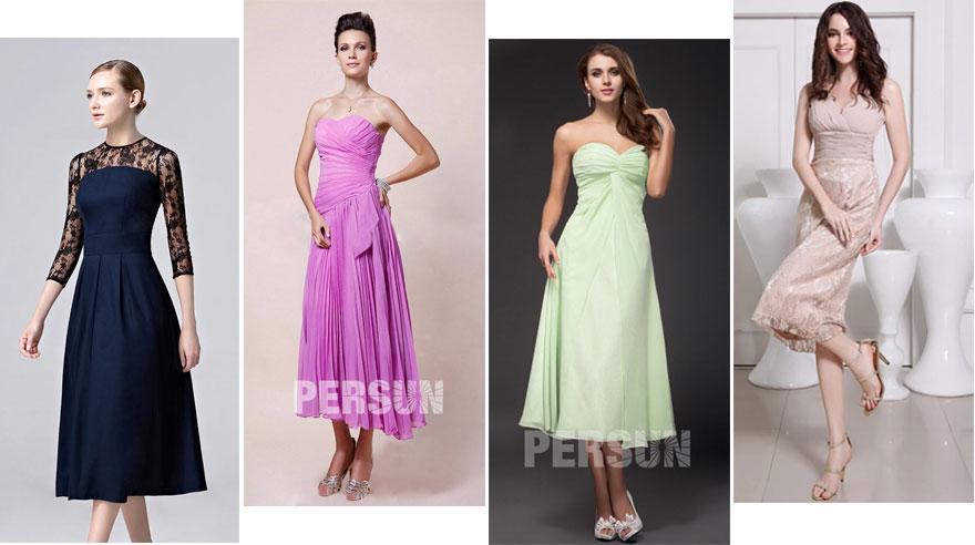 robes midi pour mariage invité