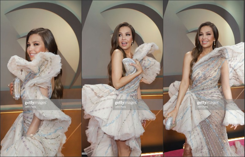 Thalia arrivent à la 31e édition du Premio Lo Nuestro
