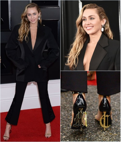le look de Myley Cyrus aux Grammy Awards 2019