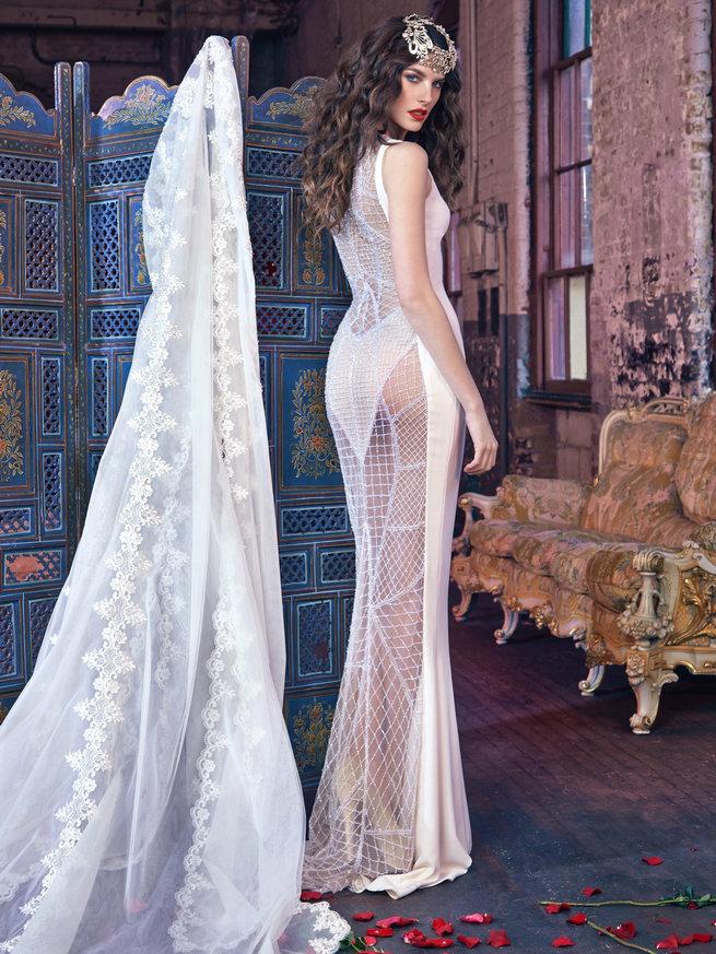 robe de mariée sexy dentelle jeu transparent