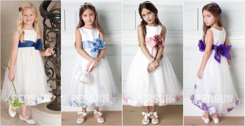 robe cortège fille princesse avec noeud papillon