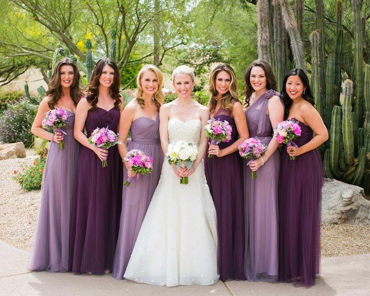 robe de demoiselle longue  violette
