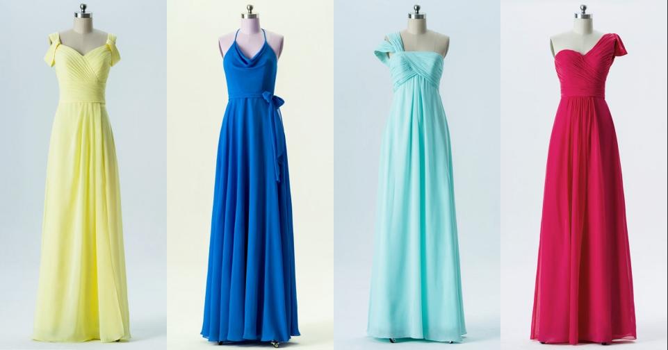 4 styles de robe demoiselle d'honneur colorée cet été 2019