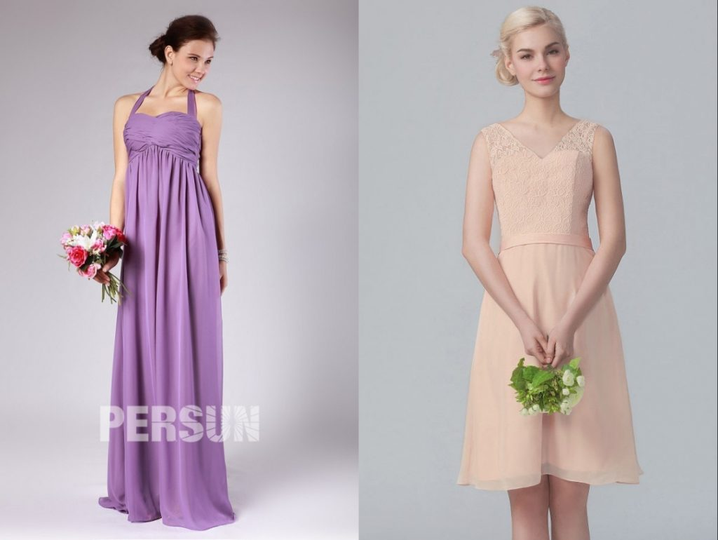 robe demoiselle d'honneur chic et élégante pour le mariage