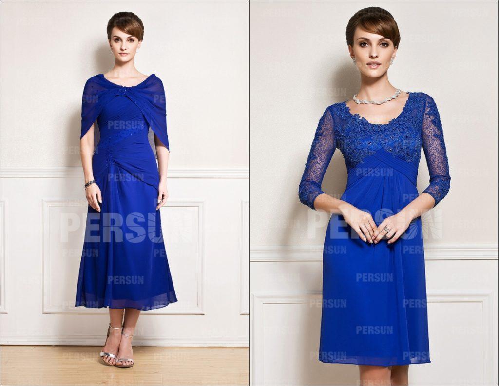 2 robe de mère de mariés en différente modèle