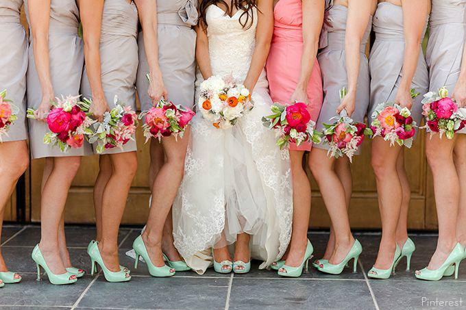 chaussure de demoiselle d'honneur vert d'eau