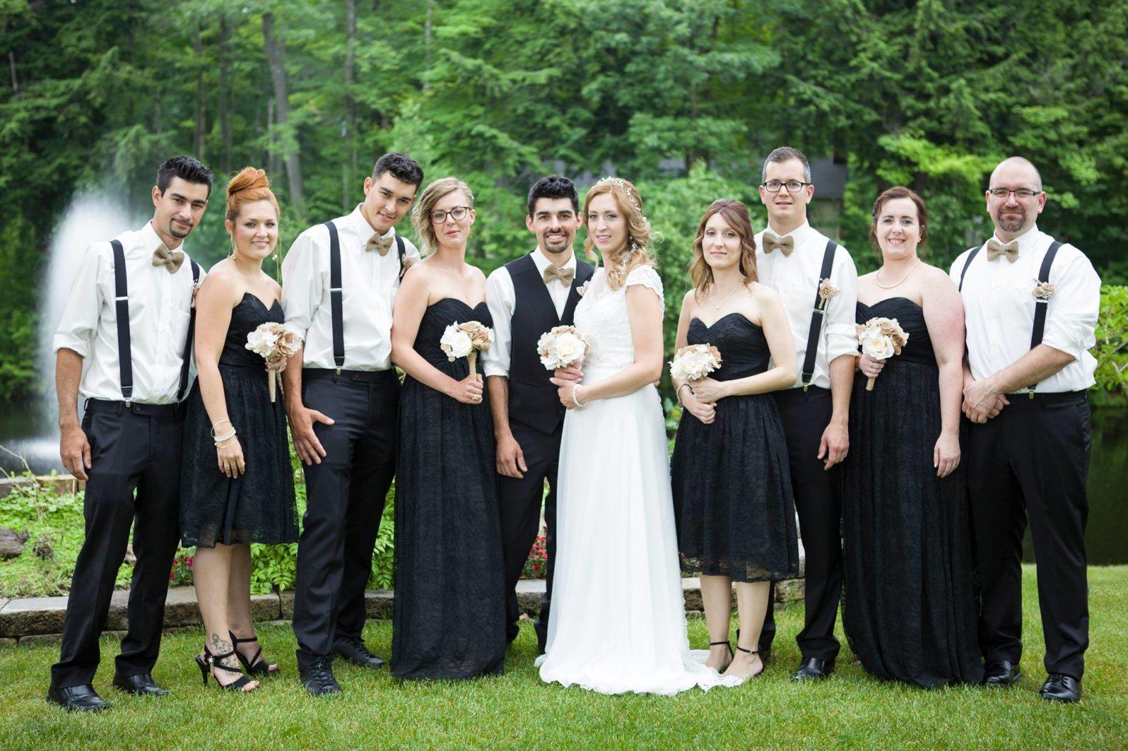 mariés et demoiselles & garçons d'honneur