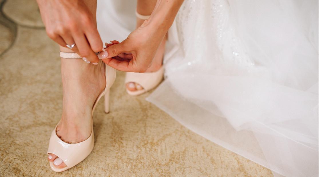 chaussures de mariée couleur nude talon haut