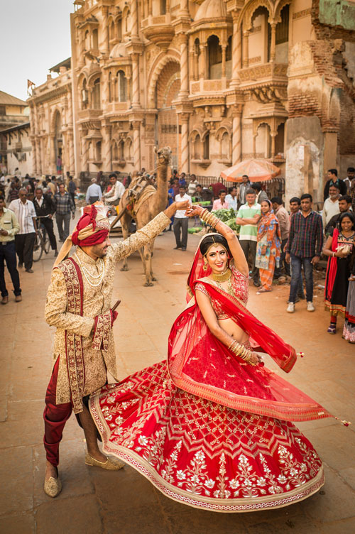 robe mariée rouge style indien