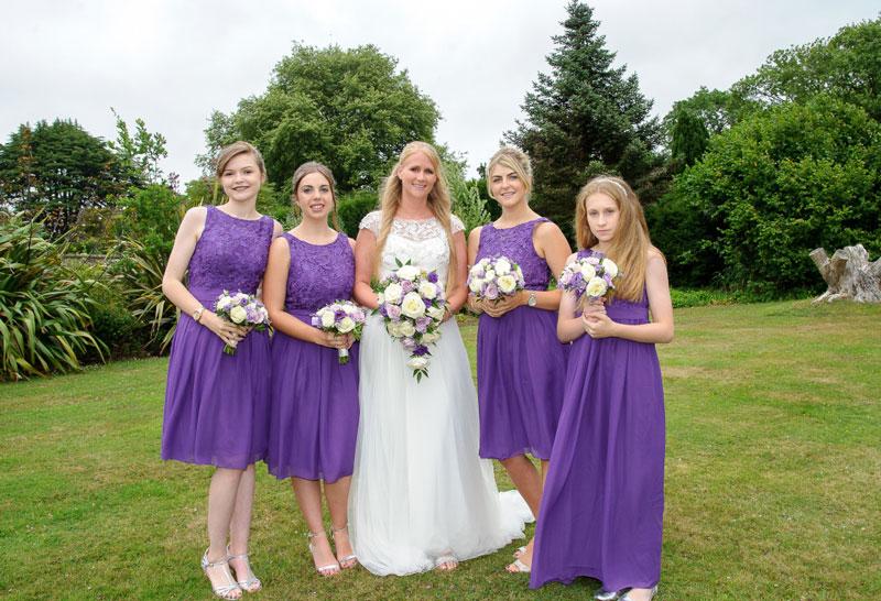robe demoiselle d'honneur violette haut dentelle