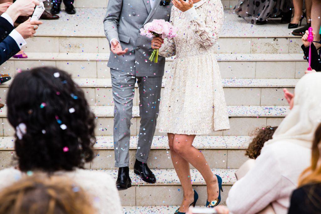 robe mariée courte dentelle